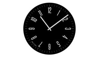 Glasuhr rund  Design BlackØ: 40 Dekoration > Uhren & Wetterstationen - Höffner