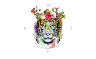 Glasuhr rund  Colourful TigerØ: 40 Dekoration > Uhren & Wetterstationen - Höffner