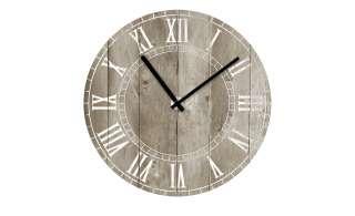 Glasuhr rund  Vintage Wood ¦ holzfarbenØ: 40 Dekoration > Uhren & Wetterstationen - Höffner