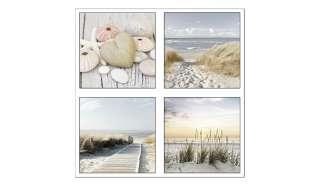 4er-Set eckige Magnete  Beach Dekoration > Bilder & Schilder - Höffner