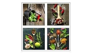 4er-Set eckige Magnete  Kitchen Dekoration > Bilder & Schilder - Höffner