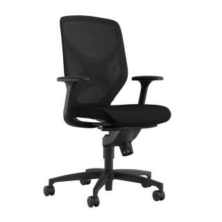 Wilkhahn - IN Drehstuhl - ohne Sitztiefe - schwarz - Rollen für harte Böden