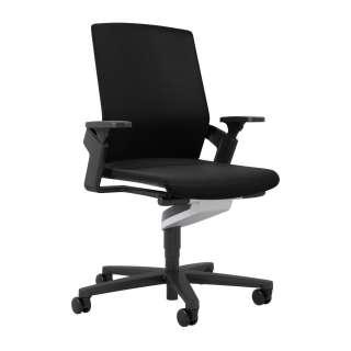 Wilkhahn - ON Drehstuhl - schwarz - mit Sitztiefe - Rollen für weiche Böden