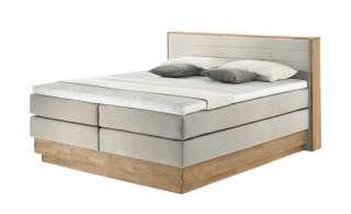 uno Massivholz-Boxspringbett mit Bettkasten Morgan ¦ beige Betten > Boxspringbetten > Boxspringbetten 160x200 - Höffner