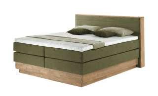 uno Massivholz-Boxspringbett mit Bettkasten Morgan ¦ grün Betten > Boxspringbetten > Boxspringbetten 180x200 - Höffner