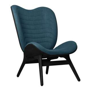UMAGE - A Conversation Piece Highback Sessel - Black Oak - Petrol Blue