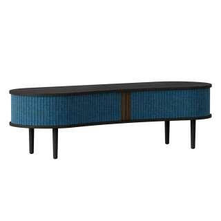UMAGE - Audacious TV Tisch - Eiche schwarz/Petrol Blue