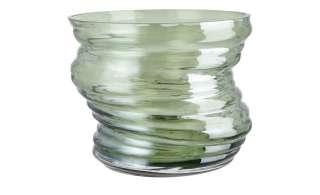 Vase ¦ grün ¦ Glas Ø: 16.5 Dekoration > Vasen - Höffner