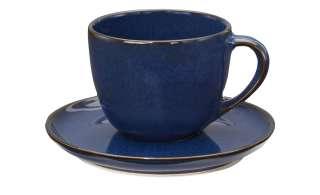 ASA SELECTION Cappuccinotasse mit Unterteller ¦ blau ¦ PorzellanØ: 9 Geschirr > Tassen - Höffner