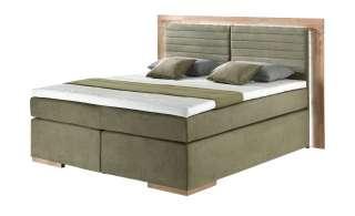 uno Massivholz-Boxspringbett mit LED-Beleuchtung Marlow ¦ grün Betten > Boxspringbetten > Boxspringbetten 200x200 - Höffner