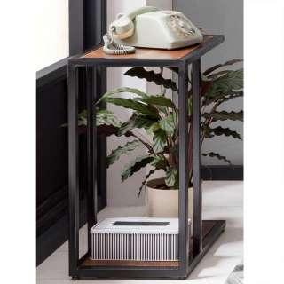 Telefontisch aus Akazie Massivholz und Metall 30 cm breit