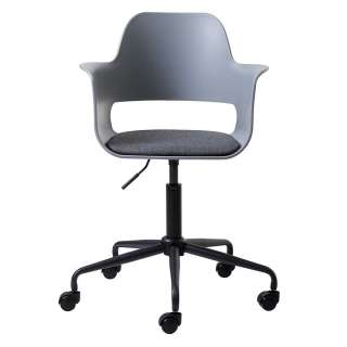 Armlehnen Drehstuhl in Grau und Schwarz Kunststoff