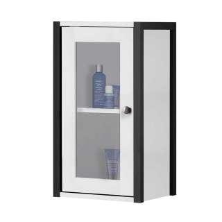 Badhängeschrank in Schwarz und Weiß 60 cm hoch