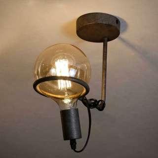 Deckenlampe aus Metall Altsilberfarben