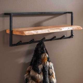 Hängegarderobe aus Akazie Massivholz und Stahl 100 cm breit