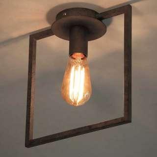 Deckenlampe in Altsilberfarben Loft Design