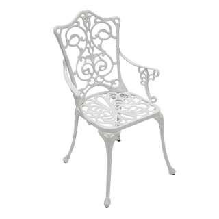 Vintage Gartenstühle in Weiß Aluminium