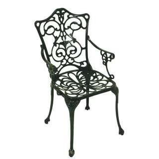 Outdoor Stühle in Dunkelgrün Armlehnen