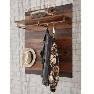 Garderobe in Dunkelgrau und Altholz Optik 80 cm breit