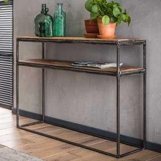 Flur Tisch aus Hartholz und Metall 110 cm breit