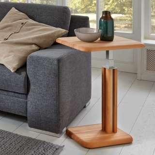 Couch Beistelltisch aus Kernbuche Massivholz höhenverstellbar