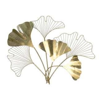 Blumen Wanddeko in Goldfarben Metall
