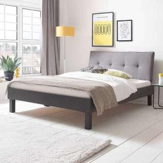 Tiefes Bett in Grau Polsterkopfteil