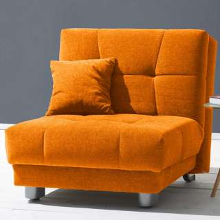 Design Sessel in Gelb Velours Schlaffunktion