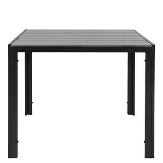 Balkontisch 90 cm tief Schwarz und Grau