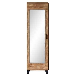 Dielenschrank mit Spiegeltür Wildeichefarben