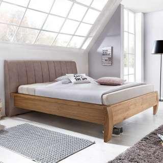 Doppelbett in Eichefarben und Braun modern