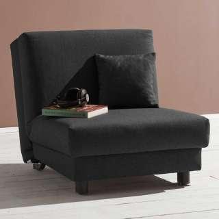 Sessel in Dunkelgrau Schlaffunktion