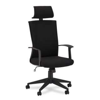 Bürostuhl mit hoher Lehne Kunststoffuniversalrollen