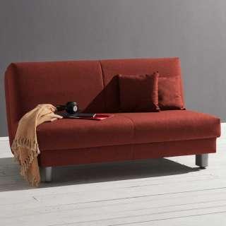 Couchbett in Dunkelrot Faltmechanik