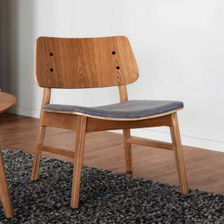 Lounge Sessel aus Eiche teilmassiv Retrostil