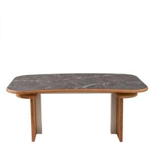 Design Tisch höhenverstellbar Tischplatte in Marmor Optik