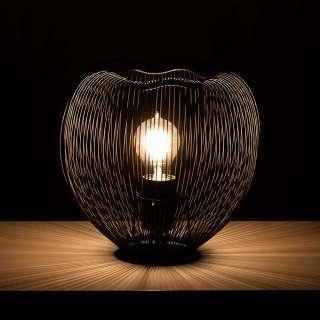 Schwarze Tischlampe aus Metall 25 cm hoch