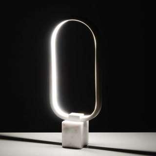 Tischlampe in Weiß LED Beleuchtung