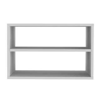 Rechteckiges Wandregal in Weiß Skandi Design