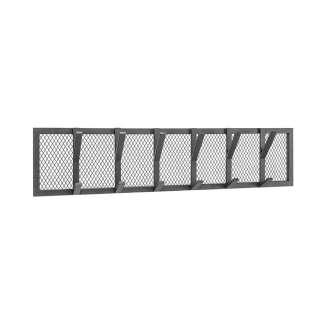 Schwarze Wandgarderobe aus Metall 6 Kleiderhaken