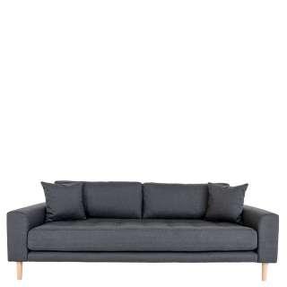 3 Sitzer Sofa in Dunkelgrau Eichefarben
