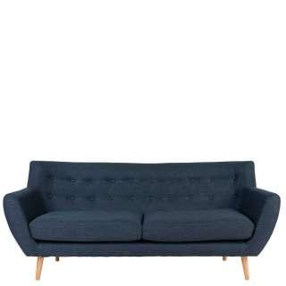 Dunkelblaues 3er Sofa mit Armlehnen Skandi Design