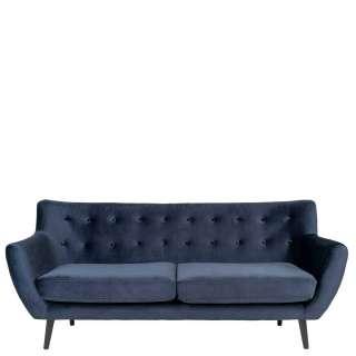 Wohnzimmer Couch in Dunkelblau 180 cm breit