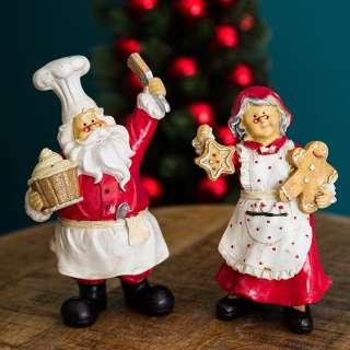 home24 Dekofigur Santa und Bäckerin (2-teilig)