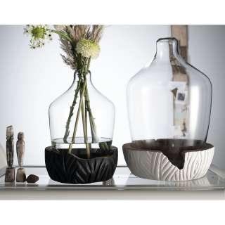 home24 Vase mit Holzsockel Casolare II