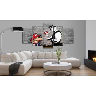 home24 Wandbild Super Mario Mushroom Cop