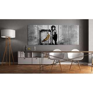 home24 Wandbild Monkey with Frame (Banksy)