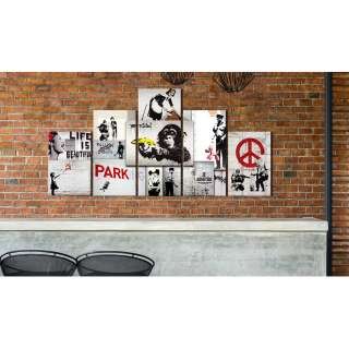 home24 Wandbild Street Crimes: (Banksy) Art