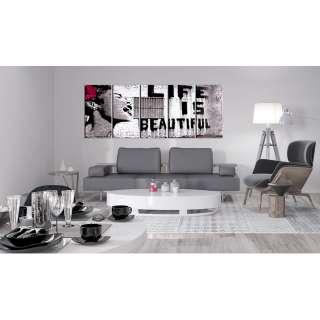 home24 Wandbild Life is Beautiful (Banksy)