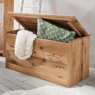 Holztruhe aus Wildeiche Massivholz rustikalen Stil